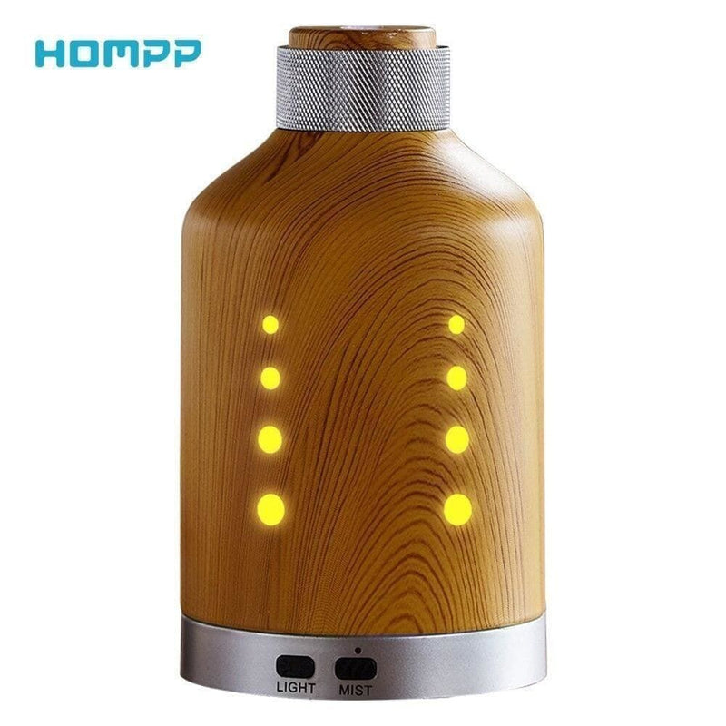 100ml Aroma Diffuser Hardware Material Wood Weave Cover