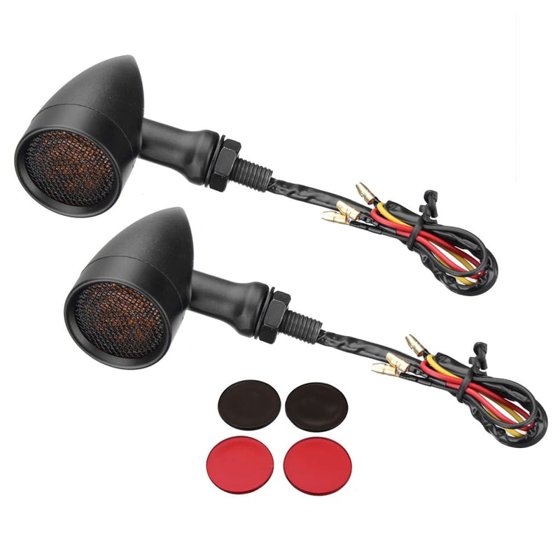 10mm Bullet Grill Led Turn Signal Indicator Lights Lamp for