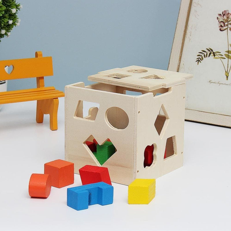 15 Holes Kids Baby Educational Toys Wooden Building Blocks