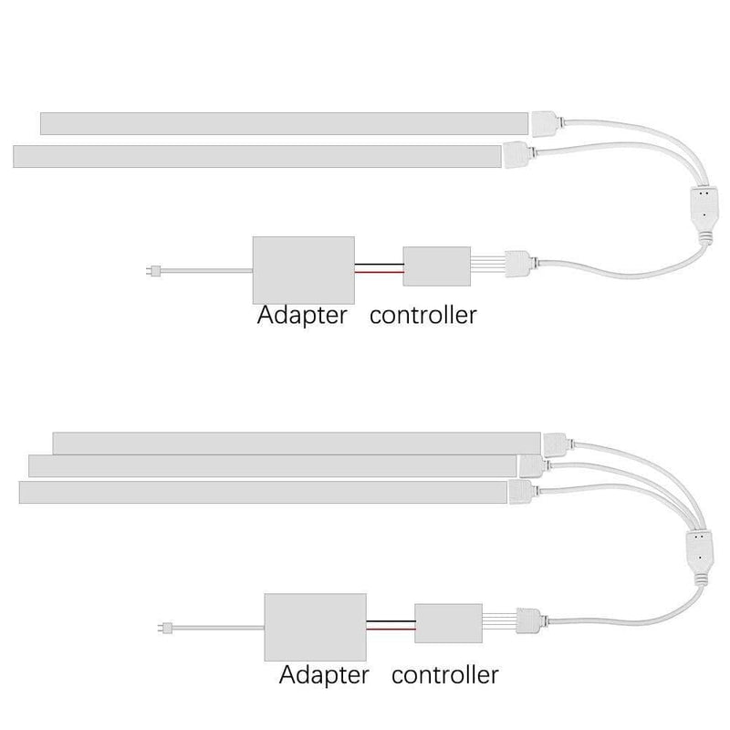 1pcs 4pin 5pin 1 to 2 /3 Splitter Connector Rgb Rgbw Led