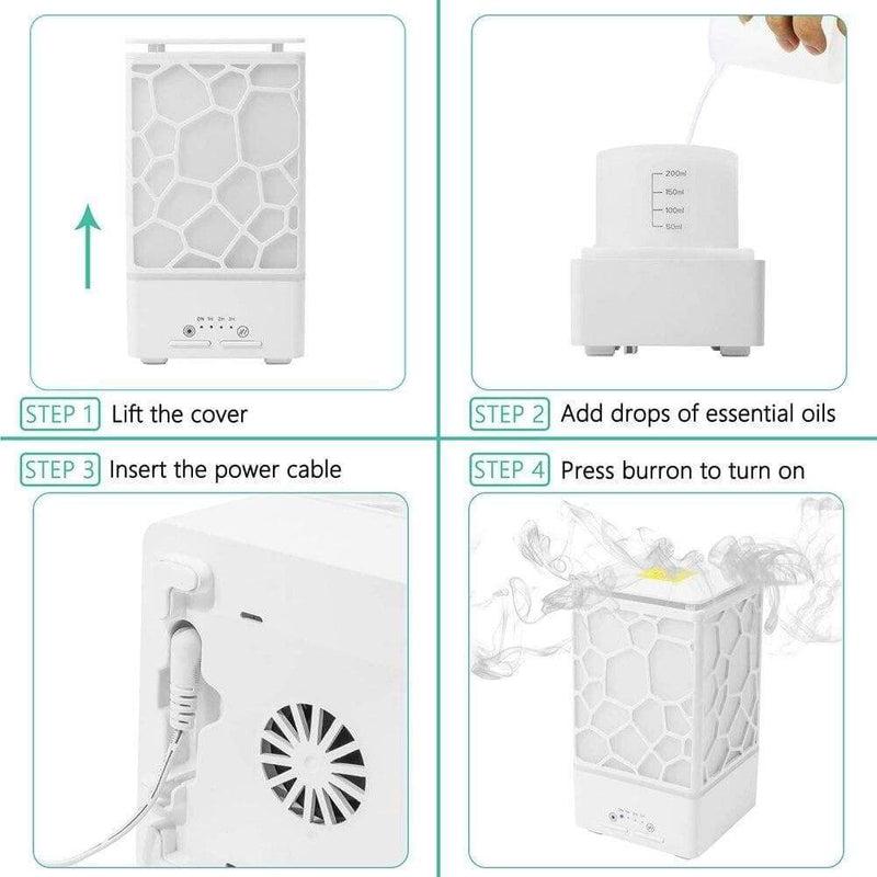 200ml Water Cube Aroma Diffuser Ultrasonic Essential Oil