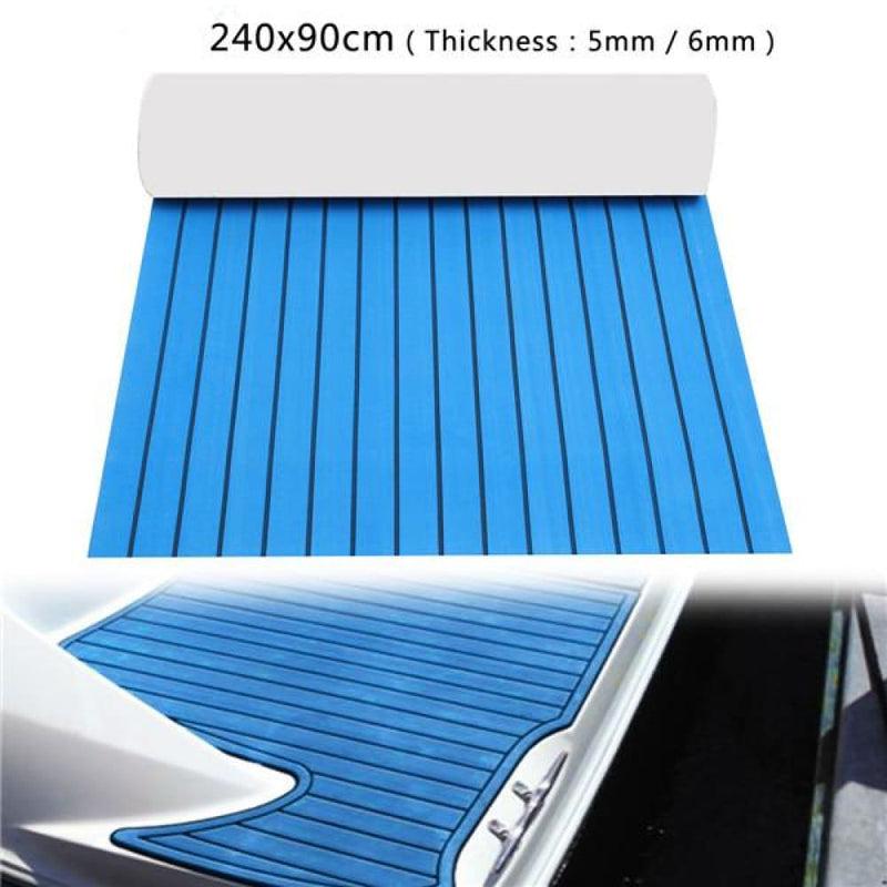 240x90cm Eva Foam 5/6mm Blue with Black Lines Boat Flooring