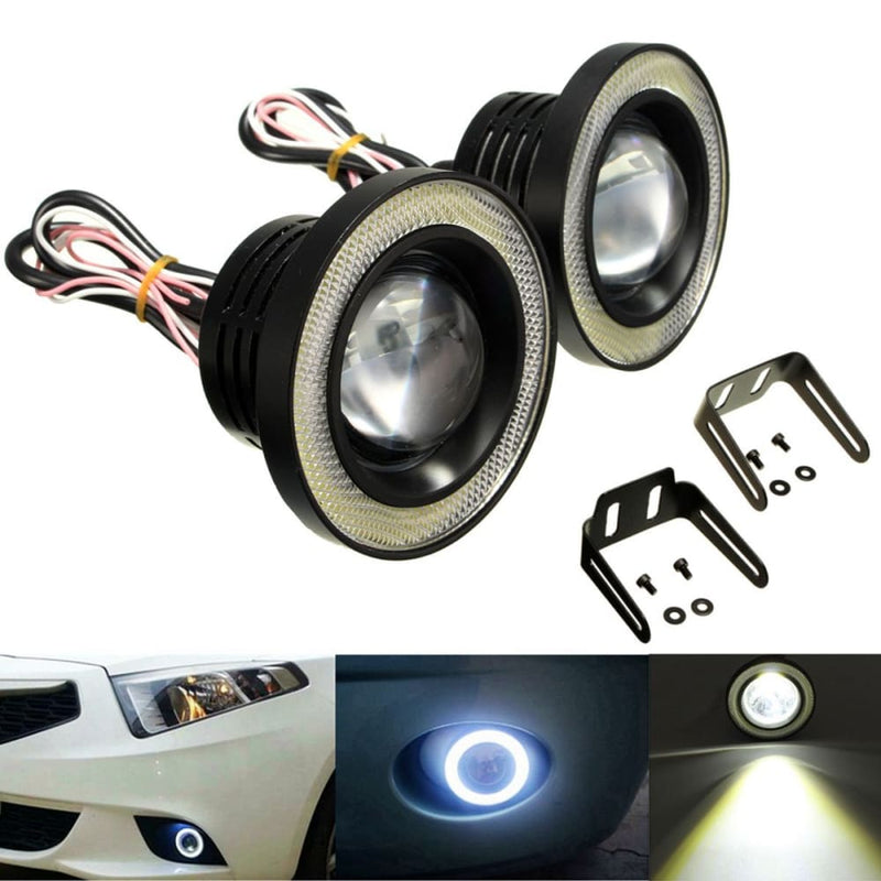 2pcs 20w 3.5 Inch Led Projector Car Fog Lights White with