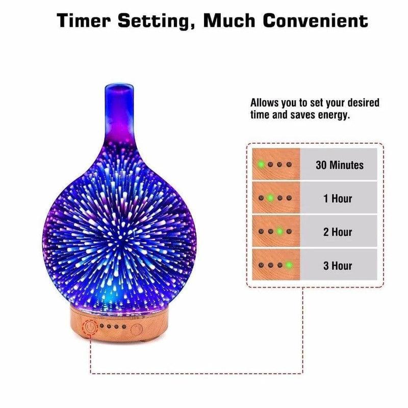 3d Fireworks Glass Machines Air Humidifier Ultrasonic
