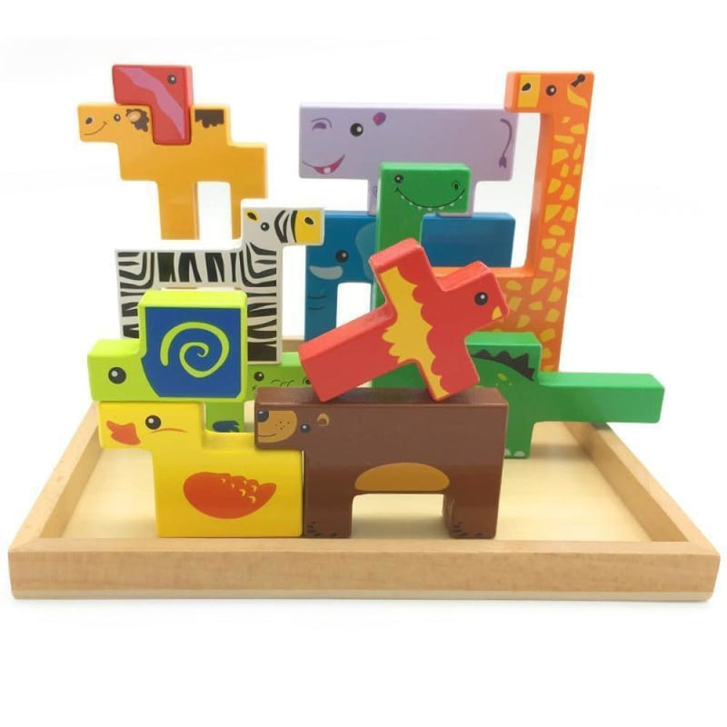 3d Puzzle Wooden Educational Animals Toys