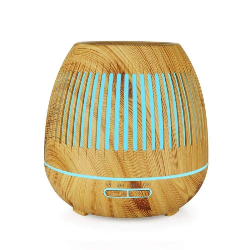 400ml Wood Grain Humidifier Hollow Machine Equipped with 7