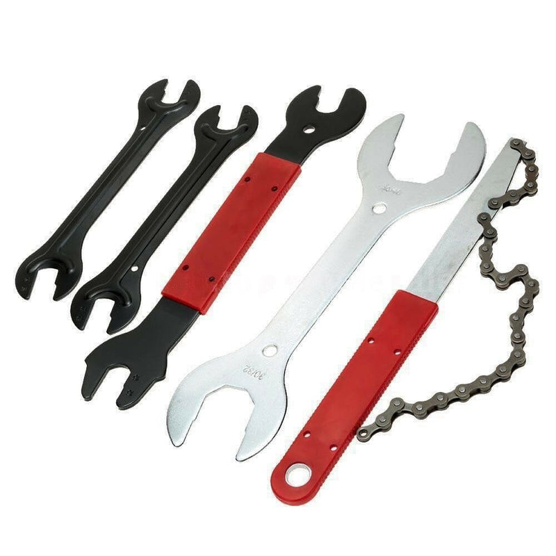 44pcs Complete Bike Bicycle Repair Tools Tool Kit Set Home