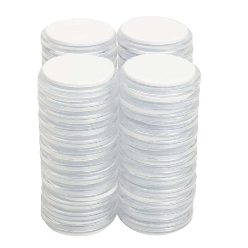 50pcs Clear Polystyrene Capsules with Coin Holders Case
