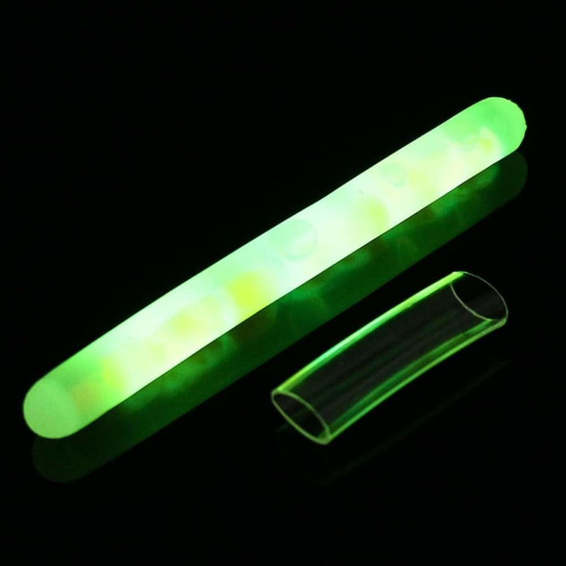 50pcs/box 7.5x75mm Luminous Fishing Float Light Tube Green