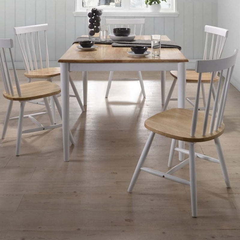 7pcs Scandinavian Dining Sets 1.5m Table 6 Chairs in Danish