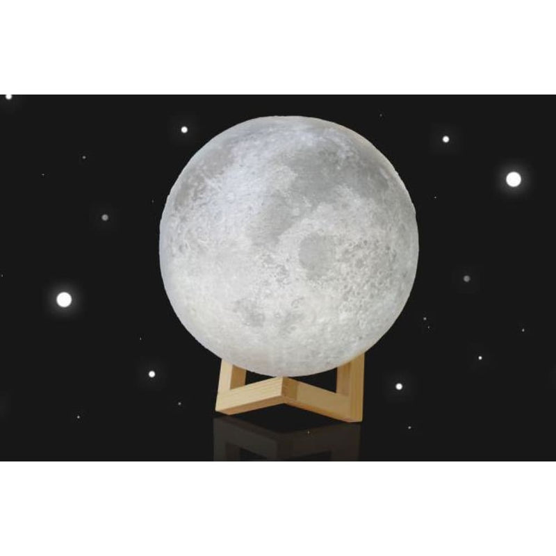 8cm Touch Sensor 3d Moon Table Lamp Usb Color Changing Led