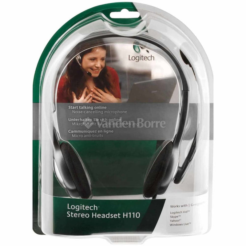 981-000459: Logitech H110 Stereo Headset