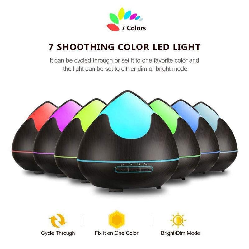 Aroma Oil Diffuser 300ml Ultrasonic Humidifier 7 Colors Led