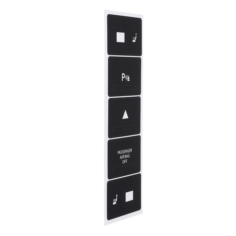 Car Matte Black Worn Button Repair Kit Stickers Decals for