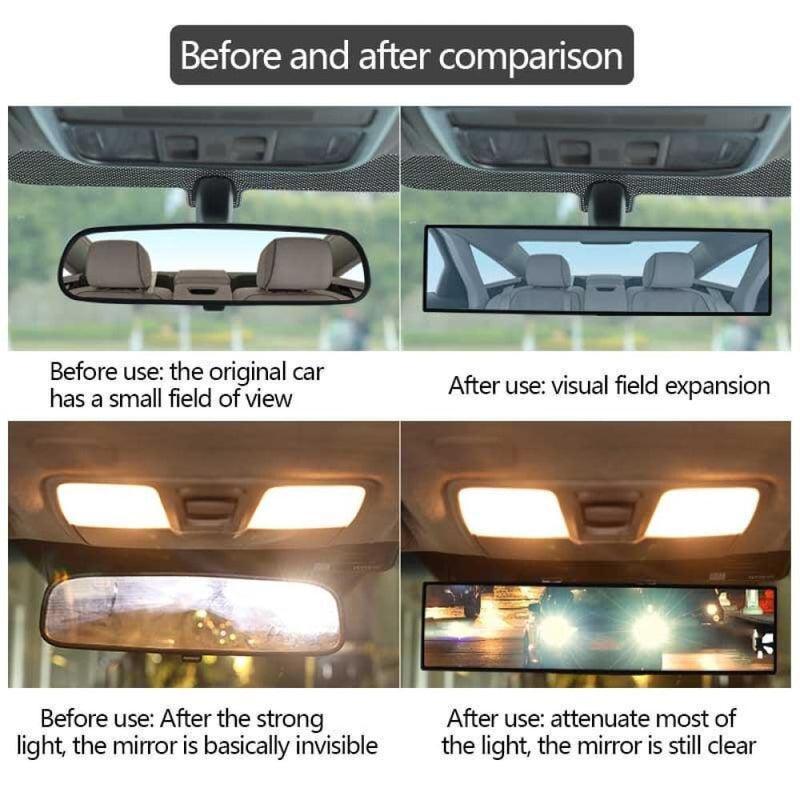 Car Rearview Mirror Auto Reflective Lens Surface Blue