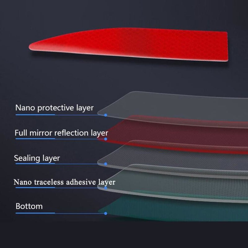 Car Reflective Strip Stickers Protective Trunk Warning