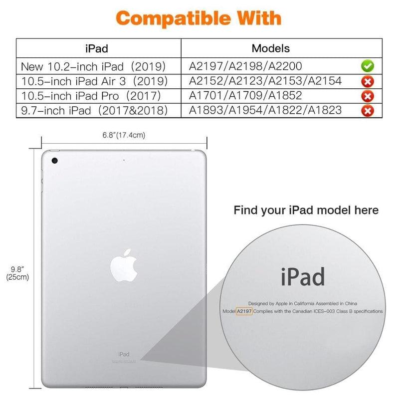Case for Apple Ipad 10.2 2019,[heavy Duty] Shockproof full