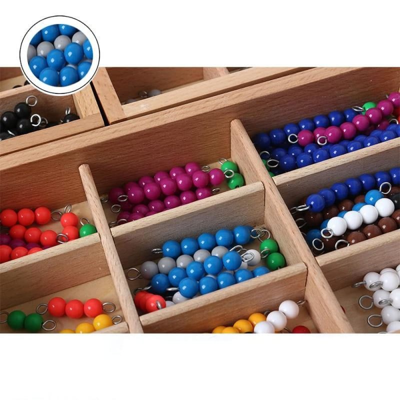 Colored Beads Count Figure Education Wooden Toys