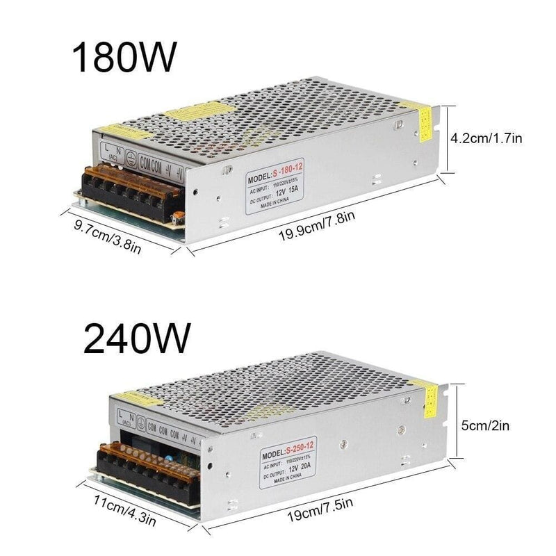 Dc12v Lighting Transformers Led Driver Power Adapter 5a 10a
