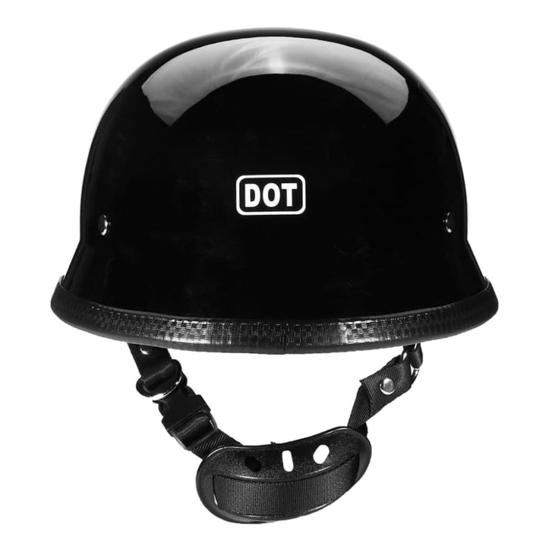 Dot German Style Motorcycle Half Face Helmet - 3 Sizes