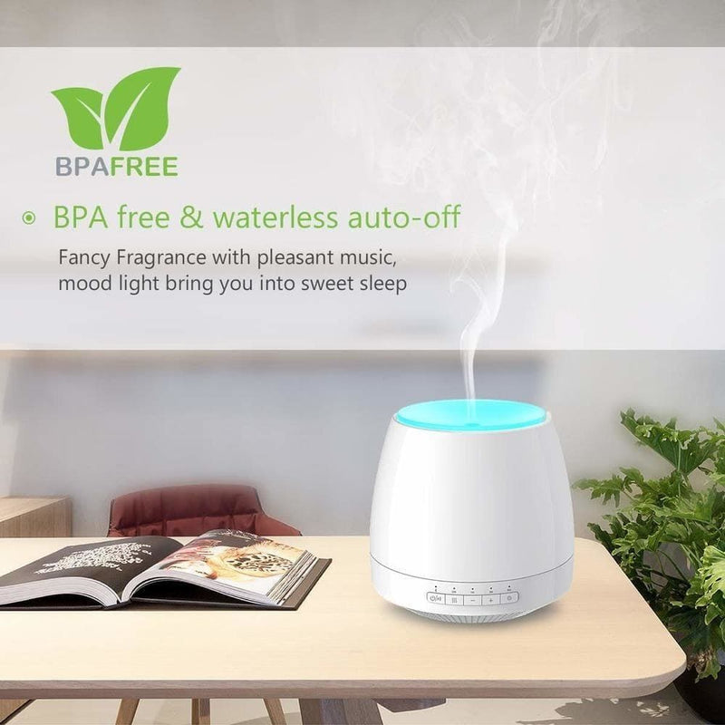Essential Oil Diffuser with Bluetooth Speaker Ultrasonic