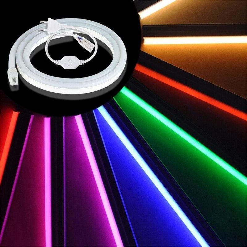 Eu 220v Led Neon Light 1m/2m/3m/5m Waterproof String for