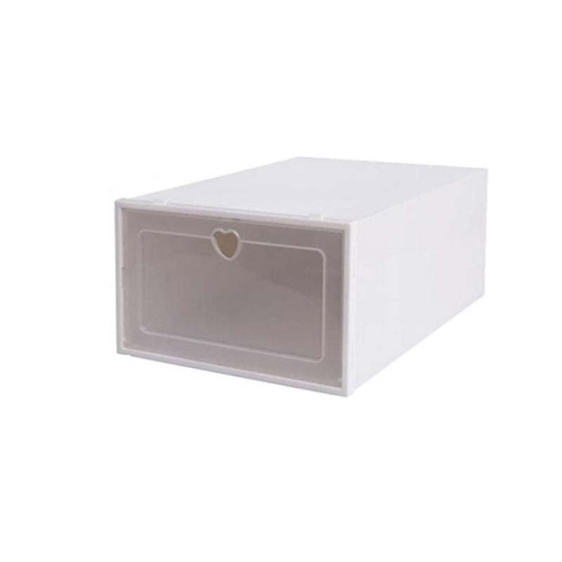 Foldable Clear Plastic Shoe Boxes Storage Stack Baskets - 4