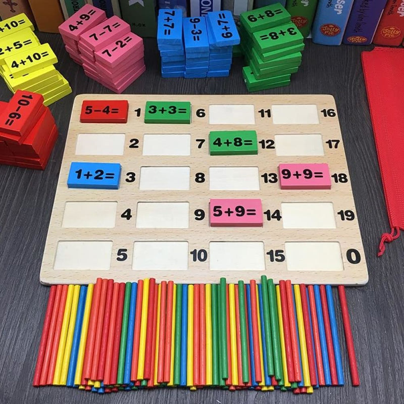 Old Game Educational Wooden Math Toy