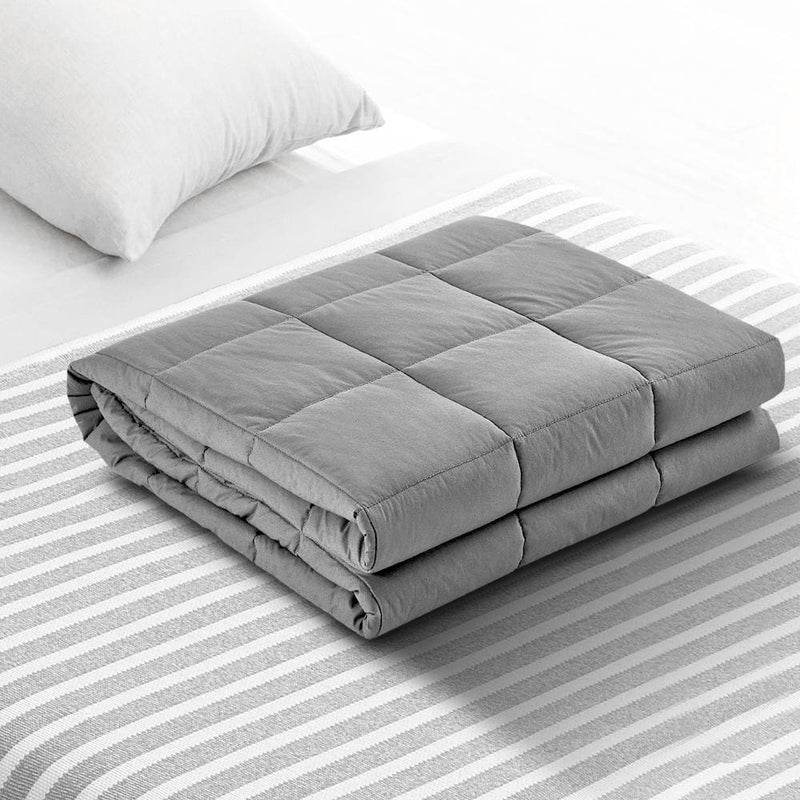 Giselle Bedding 9kg Cotton Weighted Blanket Heavy Gravity