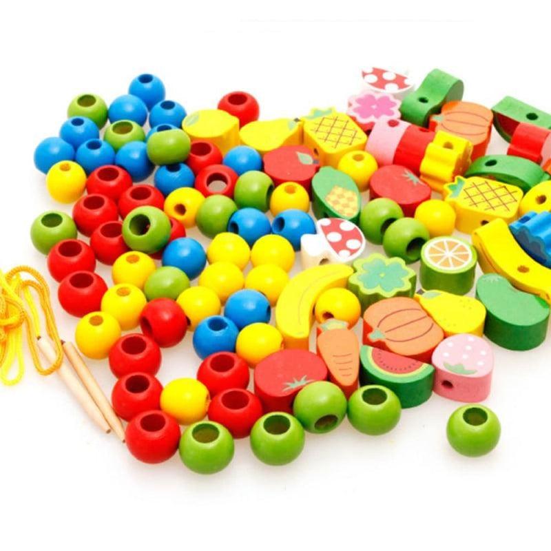 Hedgehog Beads Montessori Wooden Toy
