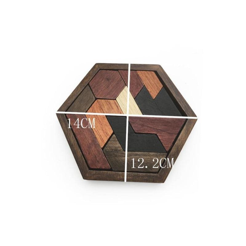Hexagon Shape Jigsaw Puzzle Board Educational Toy