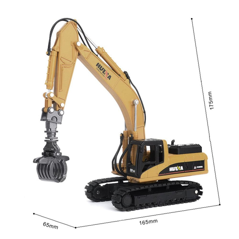 Huina 7713-1 1/50 Scale Alloy Timber Grab Diecast Model