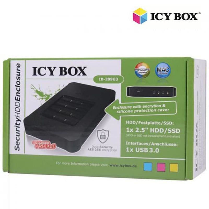 Icy Box Usb 3.0 Keypad Encrypted Enclosure for 2.5 Sata