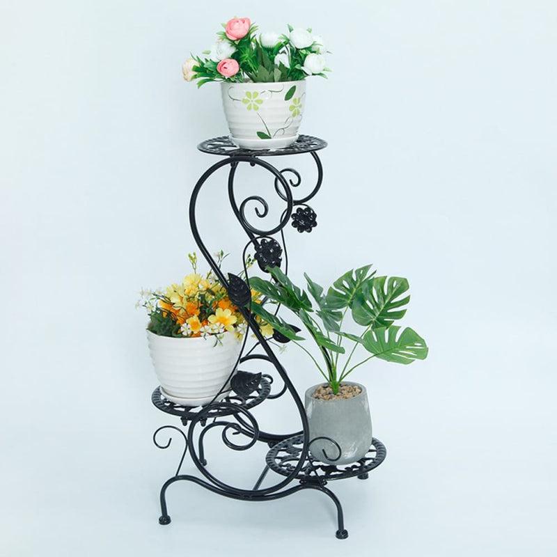 Iron Shelf Indoor Flower Pot Living Room Plants Rack Floor