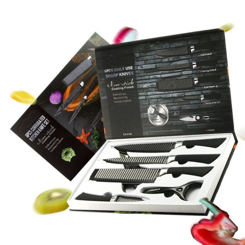 Kcasa Kc-3cr13ii 6 Pieces 3cr13 Stainless Steel Kitchen