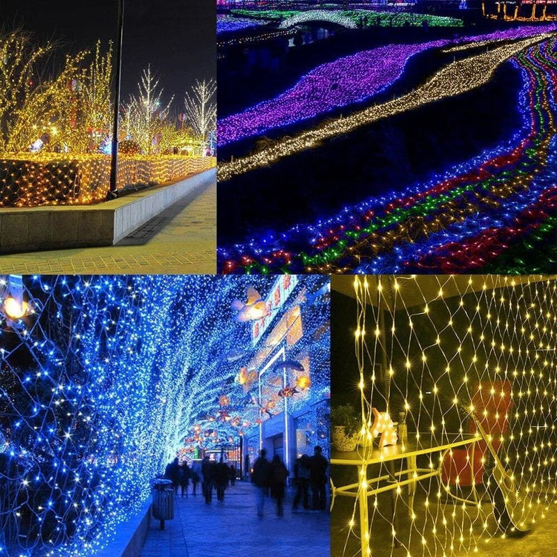 Led Curtain Net String Light 1.5 X 1.5m 96leds Outdoor Home