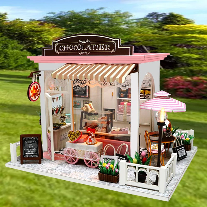 Led Wood Diy Cocoa's Whimsy Assemble Doll House with Sound