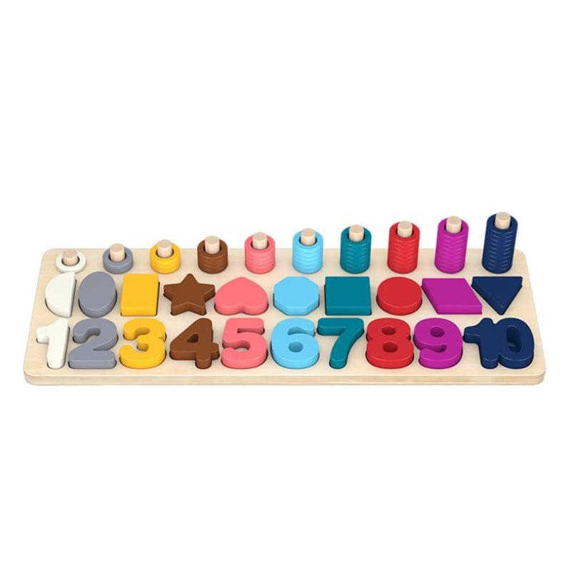Math Toy Board/math Board/wooden Toys Rings Montessori