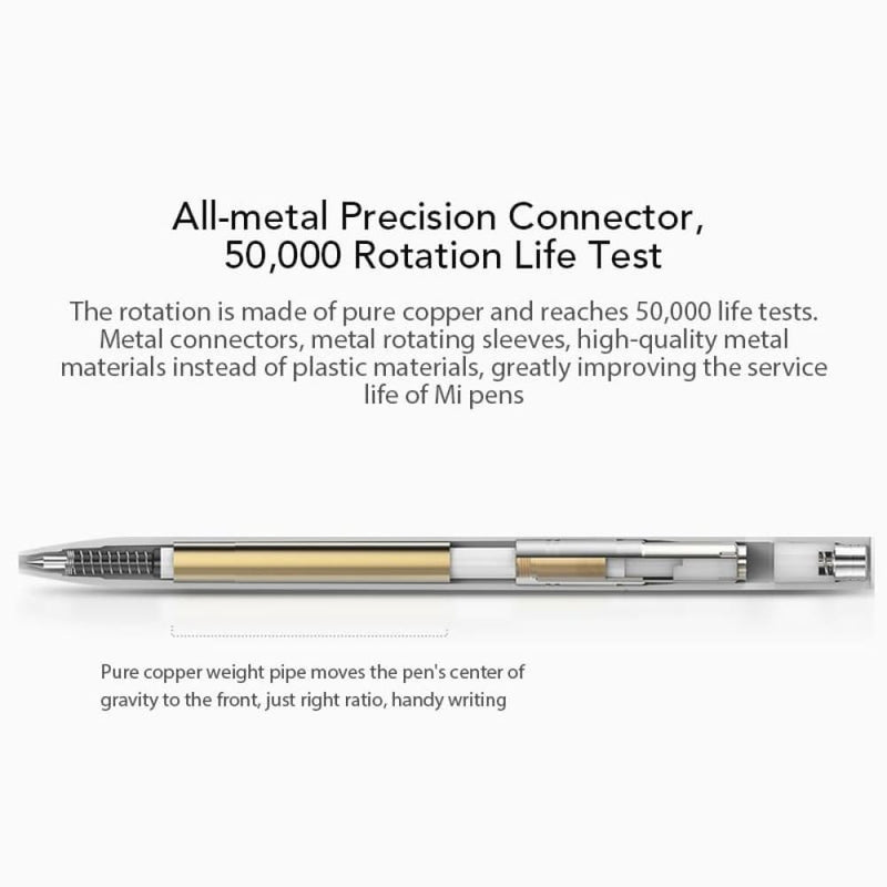 Mijia Roller Pen with 0.5mm Swiss Refill 143mm Rolling