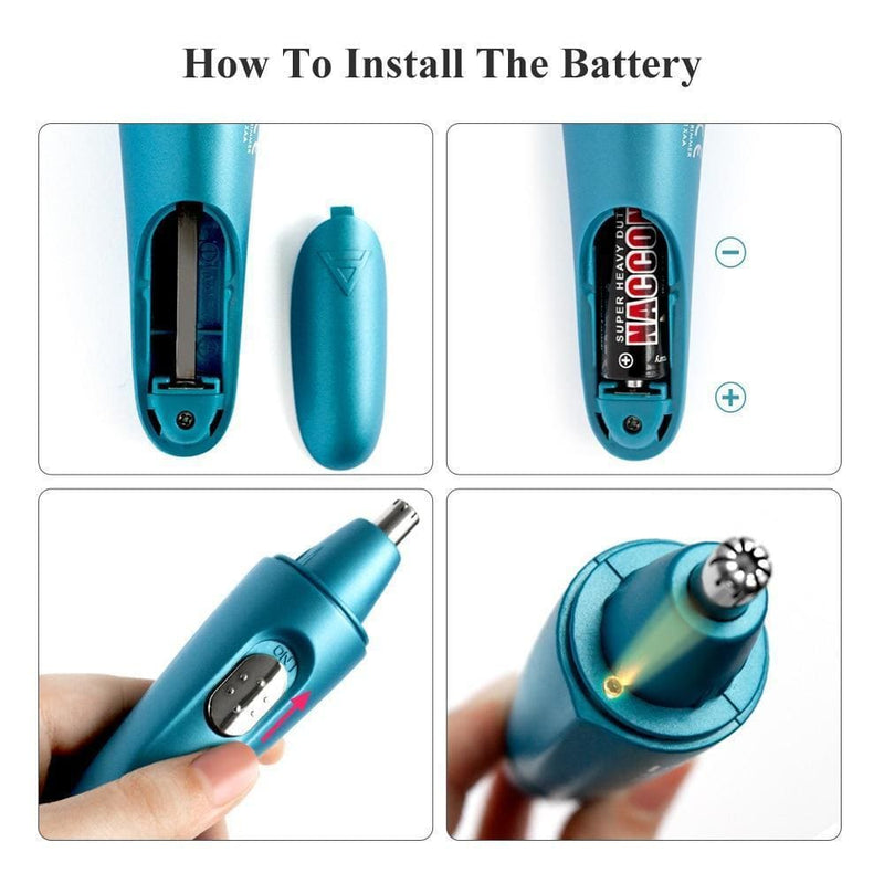 Nose & Ear Hair Trimmer with Led Light