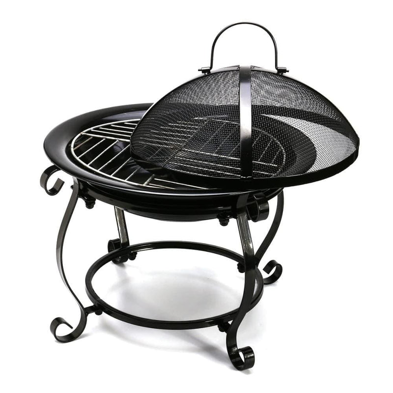 Outdoor Bbq Cooking Stove Portable Picnic Iron Fireplace