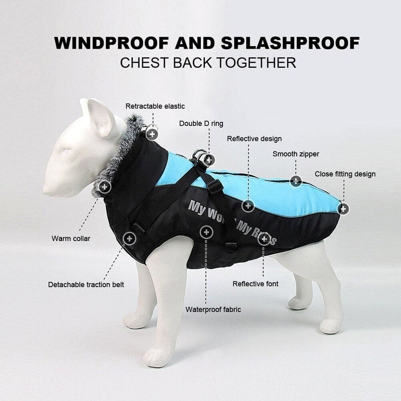 Pet Warm Clothes Winter Thicken Dog Coat Harness for Medium