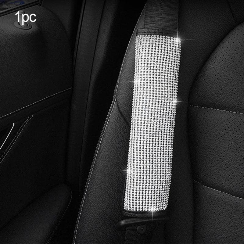 Rhinestone Car Steering Wheel Covers Cap Pu Leather Crystal