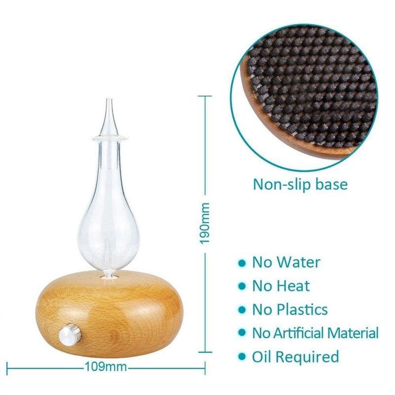 Round Solid Wood Waterless no Water Scent Machine Essential
