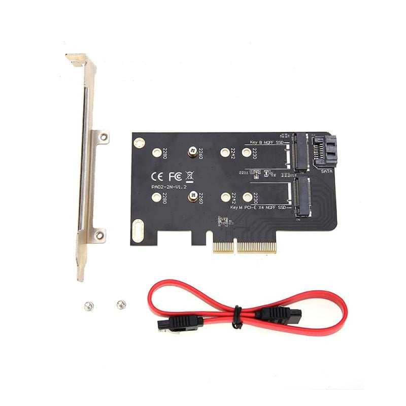 Simplecom Ec412 Dual M.2 (b Key and M Key) to Pci-e X4 Sata