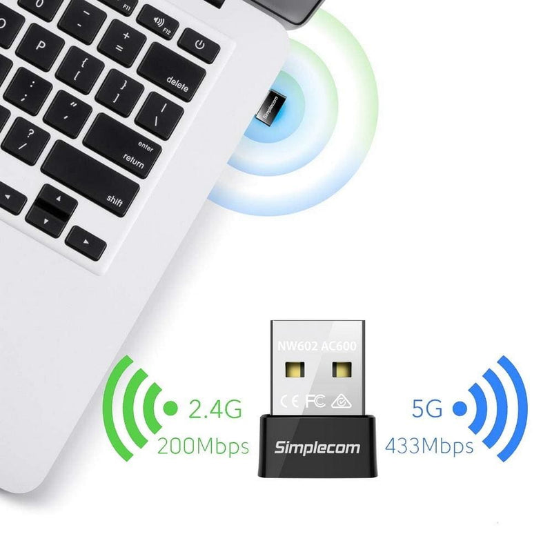 Simplecom Nw602 Ac600 Dual Band Nano Usb Wifi Wireless