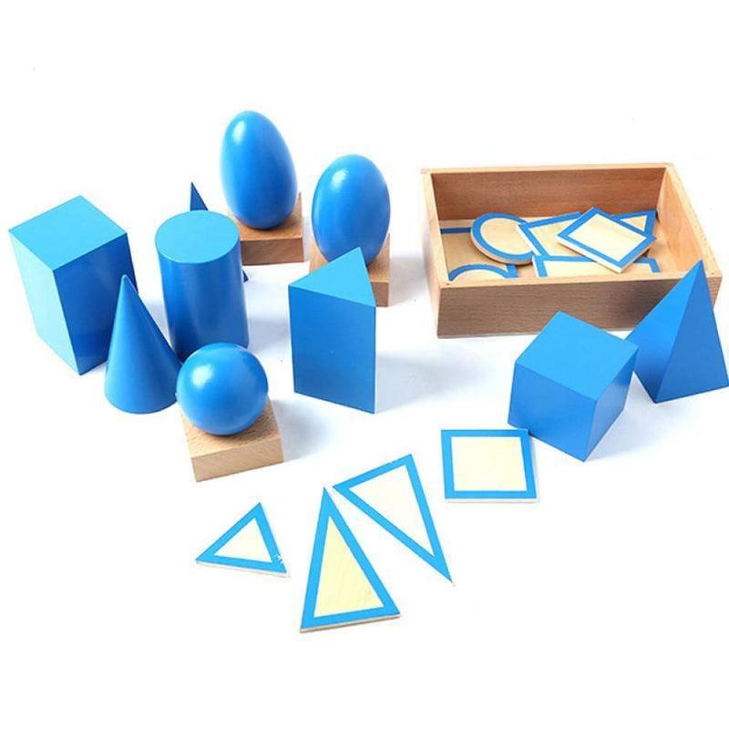 Teaching Aid Geometric Assembling Blocks Wooden Toys
