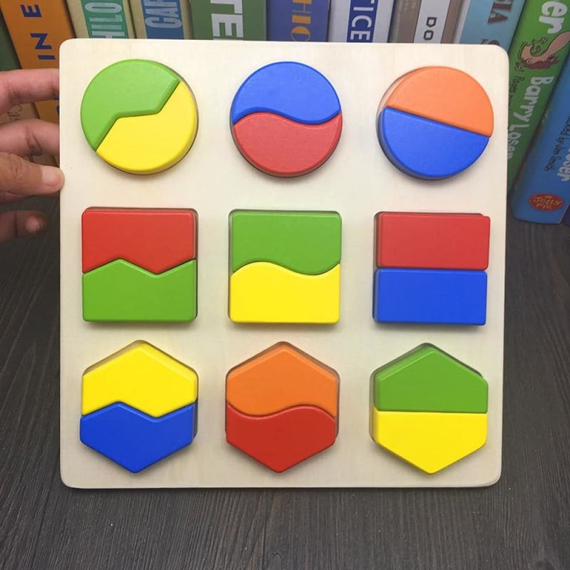 Two Bisection Stereoscopic Puzzles Toys