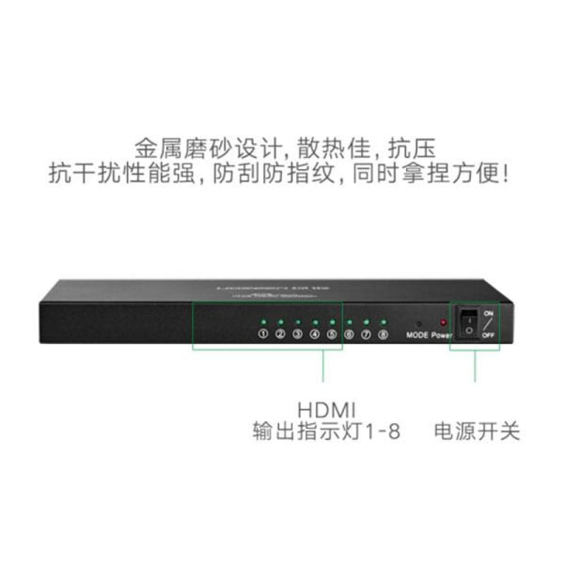 Ugreen 1 X 8 Hdmi Amplifier Splitter - Black (40203)