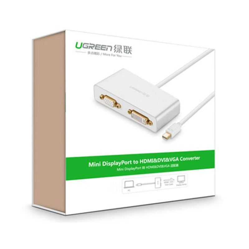 Ugreen 3-in-1 Mini Displayport to Hdmi&vga&dvi Converter -